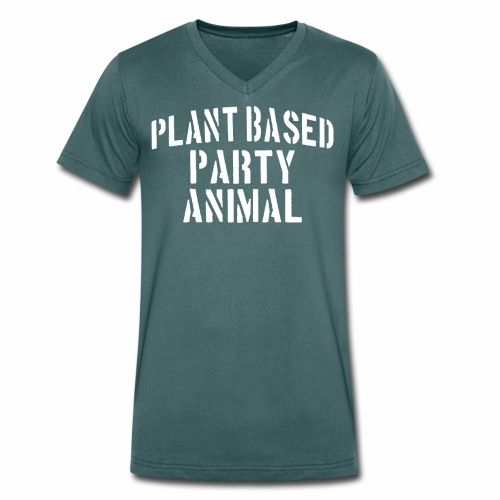 Plant Based Party Shirt Veganer T-Shirt Geschenk - Männer Bio-T-Shirt mit V-Ausschnitt von Stanley & Stella