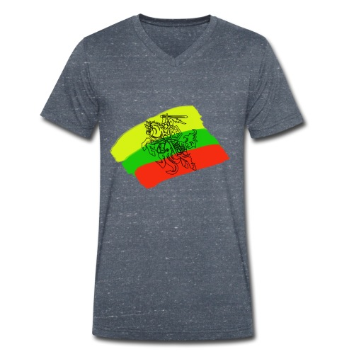 Lithuanian flag with rider - Men's Organic V-Neck T-Shirt by Stanley & Stella