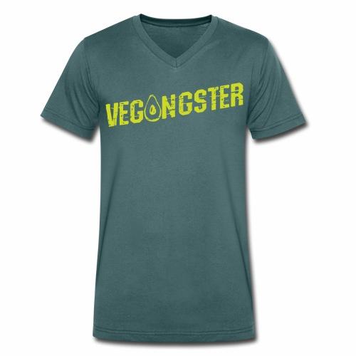 Vegangster Shirt Veganer T-Shirt Geschenk - Männer Bio-T-Shirt mit V-Ausschnitt von Stanley & Stella