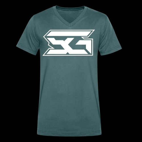 SuPra Gaming - Økologisk T-skjorte med V-hals for menn fra Stanley & Stella