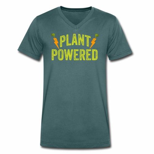 Plant Powered T-Shirt Veganer T-Shirt Geschenk - Männer Bio-T-Shirt mit V-Ausschnitt von Stanley & Stella