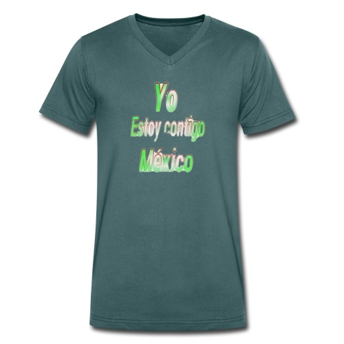 Yo Estoy contigo Mexico - Camiseta ecológica hombre con cuello de pico de Stanley & Stella