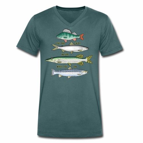 10-34B FOUR FISH - Tekstiili- ja lahjatuotteet. - Stanley & Stellan naisten luomupikeepaita