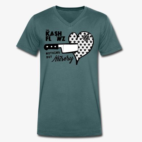 Nothing But Misery Knife Heart Black - T-shirt bio col V Stanley & Stella Homme