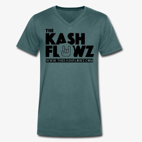 The Kash Flowz Official Web Site Black - T-shirt bio col V Stanley & Stella Homme