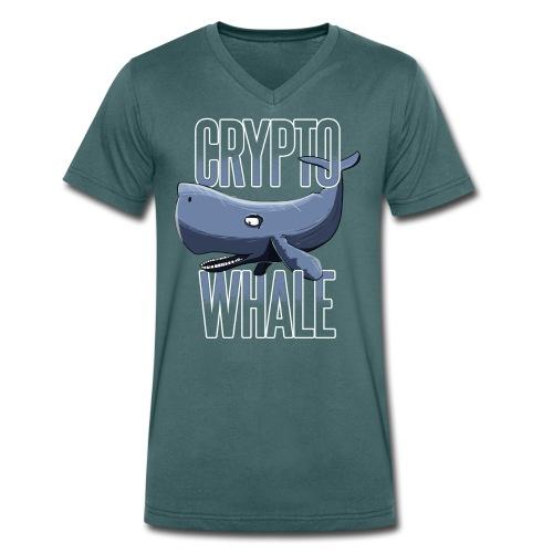 Crypto Whale Funny Cryptocurrency - Männer Bio-T-Shirt mit V-Ausschnitt von Stanley & Stella