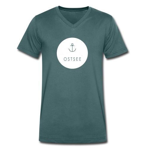 Ostsee Button - Männer Bio-T-Shirt mit V-Ausschnitt von Stanley & Stella