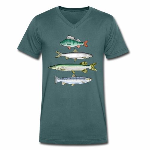 FOUR FISH - Ahven, siika, hauki ja taimen products - Stanley & Stellan naisten luomupikeepaita