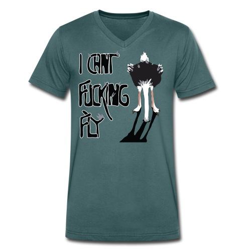 I can't fucking fly - Ekologisk T-shirt med V-ringning herr från Stanley & Stella
