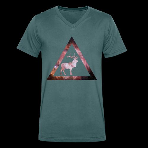 Galaxy Deer Geometry Triangle - Männer Bio-T-Shirt mit V-Ausschnitt von Stanley & Stella