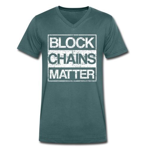 Blockchains Matter Cryptocurrency - Männer Bio-T-Shirt mit V-Ausschnitt von Stanley & Stella
