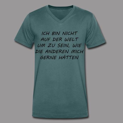 ICH - Männer Bio-T-Shirt mit V-Ausschnitt von Stanley & Stella