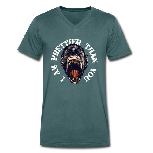 I am prettier than you - Männer Bio-T-Shirt mit V-Ausschnitt von Stanley & Stella