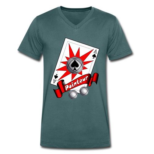 t shirt petanque as des pointeurs boules - T-shirt bio col V Stanley & Stella Homme