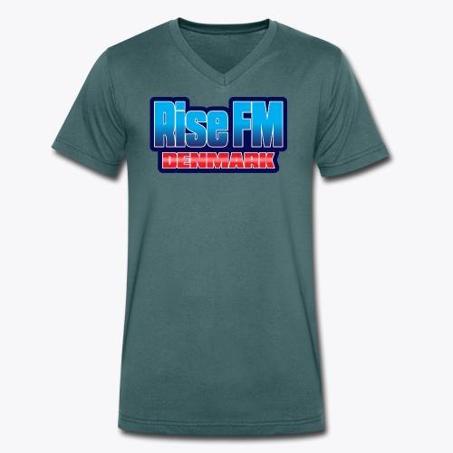 Rise FM Denmark Text Only Logo - Økologisk Stanley & Stella T-shirt med V-udskæring til herrer