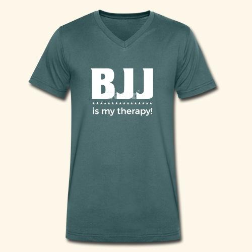 BJJ is my Therapy - Männer Bio-T-Shirt mit V-Ausschnitt von Stanley & Stella