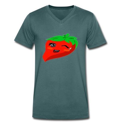 we Love Chilli - Männer Bio-T-Shirt mit V-Ausschnitt von Stanley & Stella