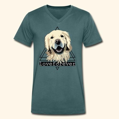 RETRIEVER LOVE FOREVER - Camiseta ecológica hombre con cuello de pico de Stanley & Stella