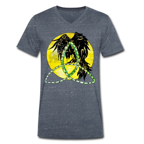 tribalrabe2 - Männer Bio-T-Shirt mit V-Ausschnitt von Stanley & Stella