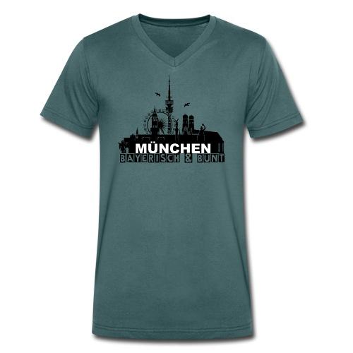 MUENCHEN BAYERISCH BUNT (LOGO SW) - Männer Bio-T-Shirt mit V-Ausschnitt von Stanley & Stella