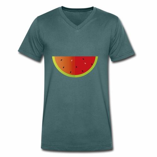 Sandia - Camiseta ecológica hombre con cuello de pico de Stanley & Stella