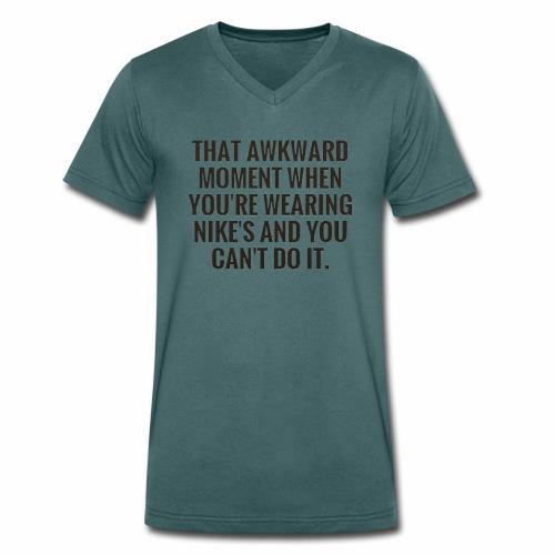 Can't do it - Mannen bio T-shirt met V-hals van Stanley & Stella