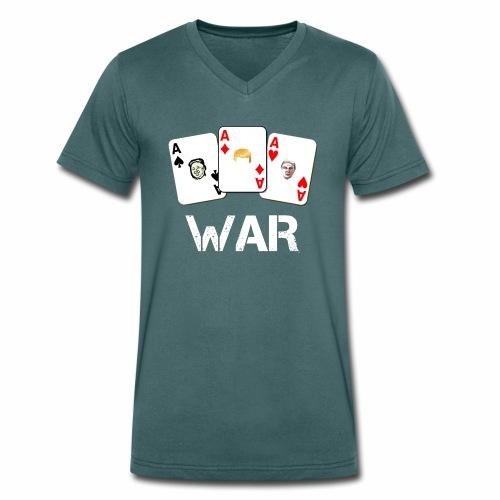 WAR / Guerra - T-shirt ecologica da uomo con scollo a V di Stanley & Stella