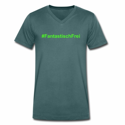 FantastischFrei gruen - Männer Bio-T-Shirt mit V-Ausschnitt von Stanley & Stella