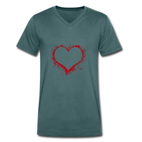 Herz/Heart - Männer Bio-T-Shirt mit V-Ausschnitt von Stanley & Stella