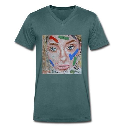 Anna - T-shirt ecologica da uomo con scollo a V di Stanley & Stella
