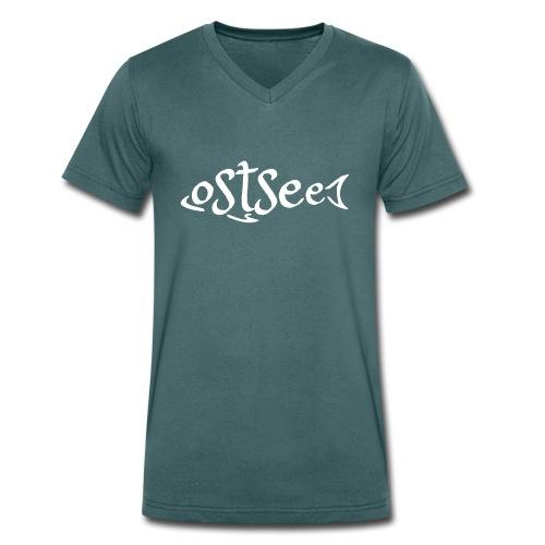 Ostsee-Fisch - Männer Bio-T-Shirt mit V-Ausschnitt von Stanley & Stella