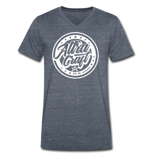 AltraCraft - For the awesome (White Logo) - Men's Organic V-Neck T-Shirt by Stanley & Stella