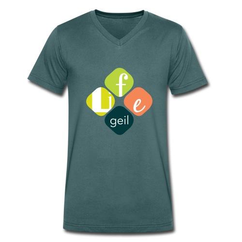 Lifegeil - Männer Bio-T-Shirt mit V-Ausschnitt von Stanley & Stella