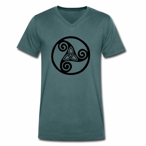 triskel - Camiseta ecológica hombre con cuello de pico de Stanley & Stella