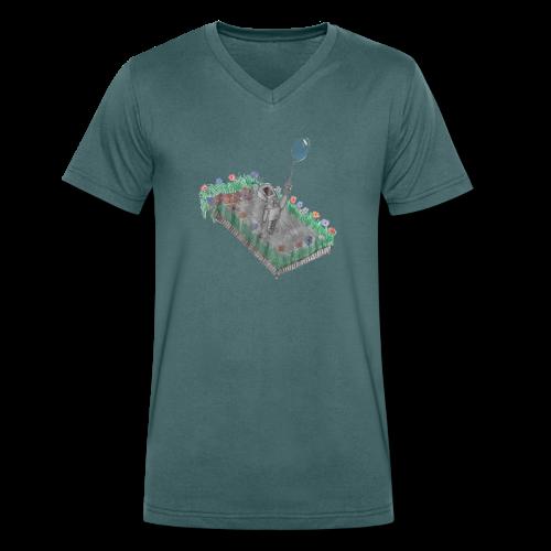 robotandflowers - Männer Bio-T-Shirt mit V-Ausschnitt von Stanley & Stella