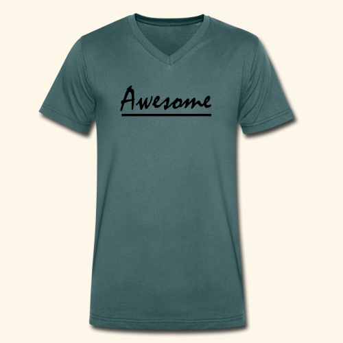 Awesome - Men's Organic V-Neck T-Shirt by Stanley & Stella