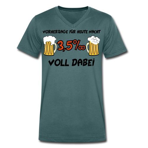 Vorhersage 3,5 Promille - Männer Bio-T-Shirt mit V-Ausschnitt von Stanley & Stella