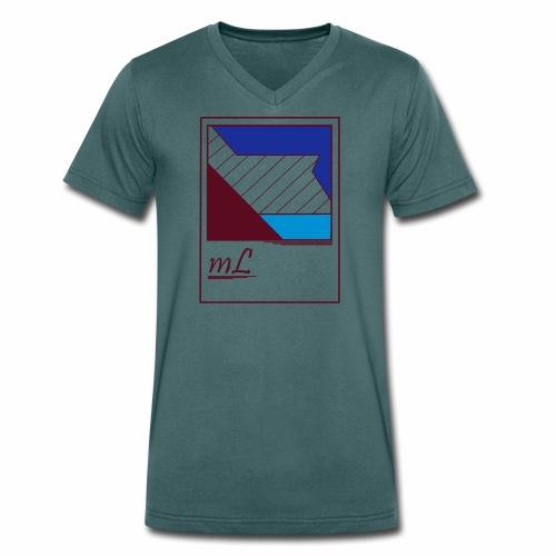 abstrakt, Lebe dein style - Männer Bio-T-Shirt mit V-Ausschnitt von Stanley & Stella