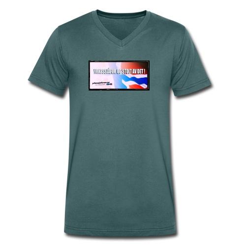 Stoltnorsk2 - Økologisk T-skjorte med V-hals for menn fra Stanley & Stella