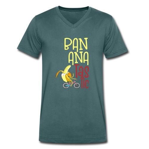 Bananatastic - Sportliche Banane Chill out - Männer Bio-T-Shirt mit V-Ausschnitt von Stanley & Stella