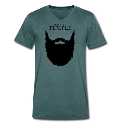 my beard is a temple - Männer Bio-T-Shirt mit V-Ausschnitt von Stanley & Stella