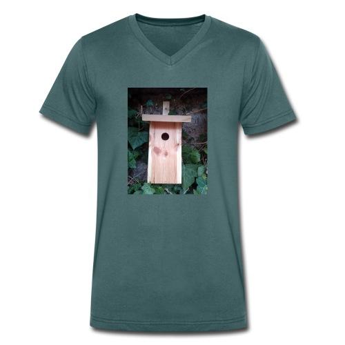 Der Nistkasten - Luxus für den Garten-Vogel - Männer Bio-T-Shirt mit V-Ausschnitt von Stanley & Stella