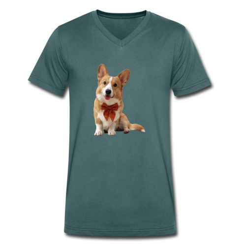 Bowtie Topi - Men's Organic V-Neck T-Shirt by Stanley & Stella
