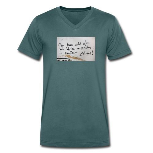 Zitronen - Männer Bio-T-Shirt mit V-Ausschnitt von Stanley & Stella