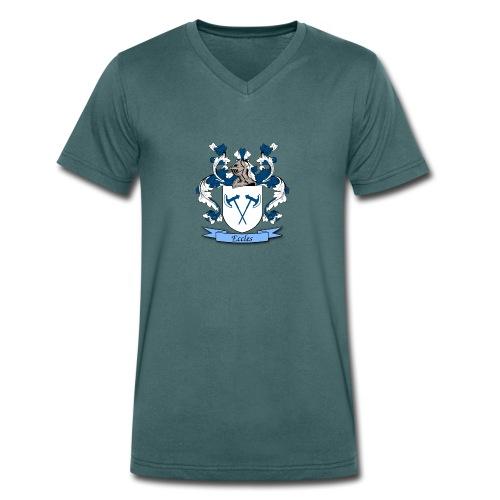 Eccles Family Crest - Men's Organic V-Neck T-Shirt by Stanley & Stella