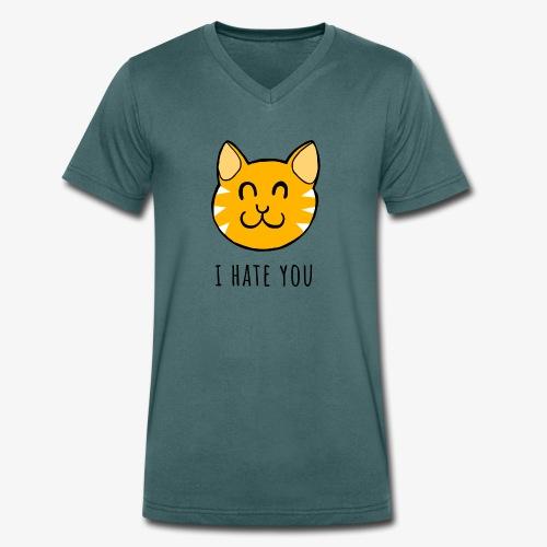 I HATE YOU - Camiseta ecológica hombre con cuello de pico de Stanley & Stella