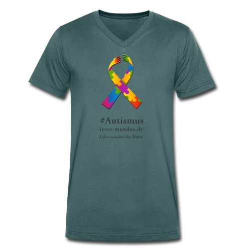 Inter-Mundos Autismus-Schleife - Männer Bio-T-Shirt mit V-Ausschnitt von Stanley & Stella