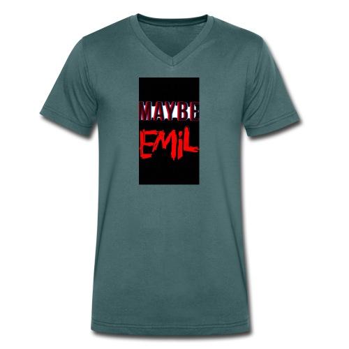Maybe emil - Ekologisk T-shirt med V-ringning herr från Stanley & Stella