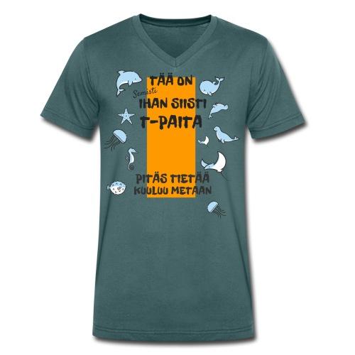 Meta: Semisti ihan siisti t-paita - Men's Organic V-Neck T-Shirt by Stanley & Stella
