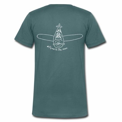 #FlyMeToTheMoon - White - Men's Organic V-Neck T-Shirt by Stanley & Stella